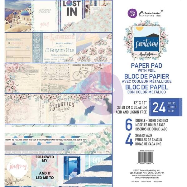 Prima Marketing - Santorini 12x12 Double-Sided Paper Pad