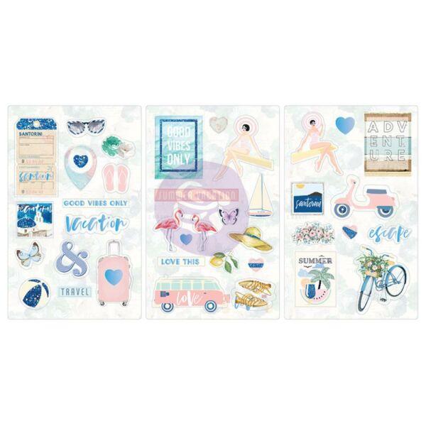 Prima Marketing - Santorini Chipboard Stickers