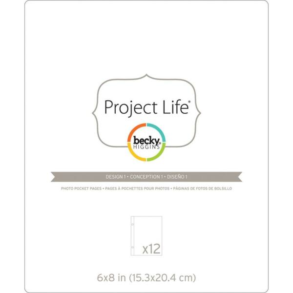 Becky Higgins - Project Life - 6 x 8 Pocket Pages Design 1