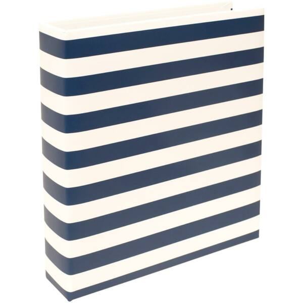 Becky Higgins - Project Life - 6 x 8 Album Navy Stripe