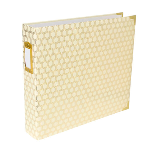 Becky Higgins - Project Life - 12 x 12 Album Honeycomb Cream and Gold