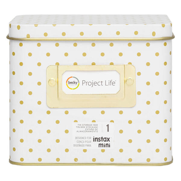 Becky Higgins Project Life - Instax - Polka Dot Tin Storage