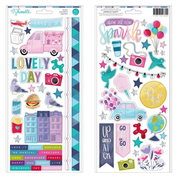 American Crafts - Shimelle - Sparkle City 6x12 matrica (71 db)