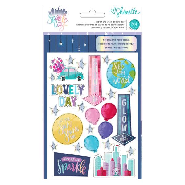 American Crafts - Shimelle - Sparkle City Sticker and Washi Book Folder (364 Piece)
