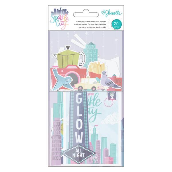 American Crafts - Shimelle - Sparkle City kivágat (30 db)