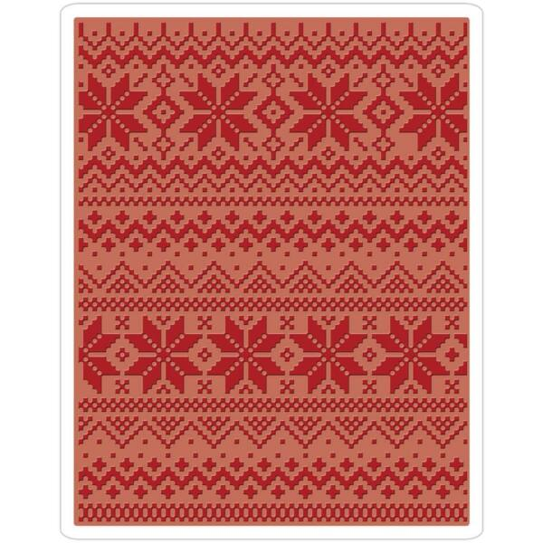 Sizzix - Tim Holtz A2 Embossing Folder - Holiday Knit #2