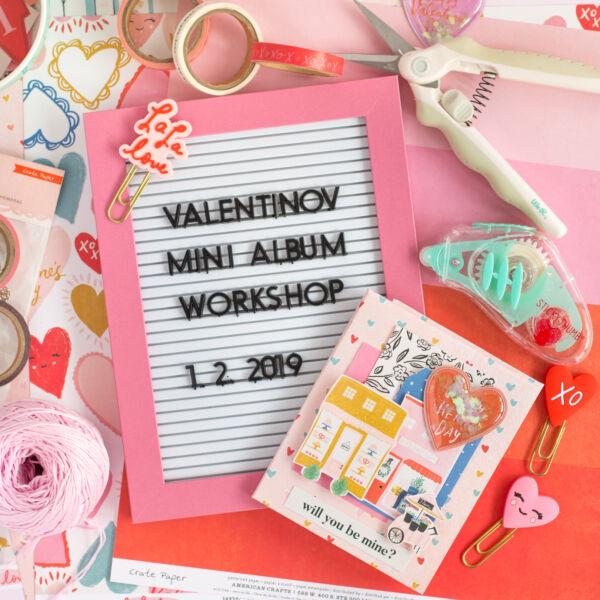 Valentinovo Mini Album Workshop 1.2.2019