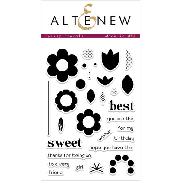Altenew Folksy Florals Stamp Set