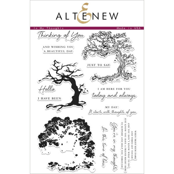 Altenew In My Thoughts Stamp Set