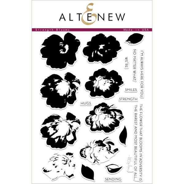 Altenew Strength Blooms Stamp Set