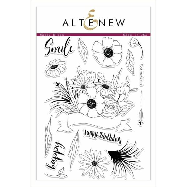Altenew Happy Bloom Stamp Set