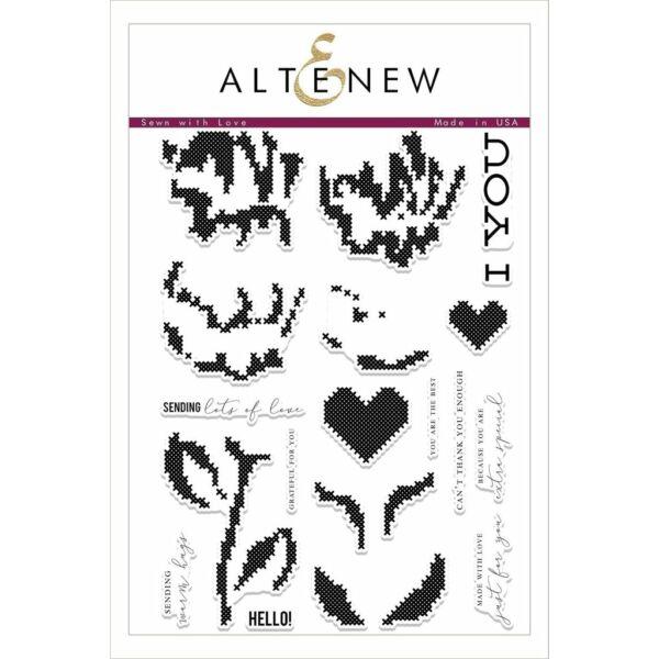 Altenew Sewn with Love Stamp Set