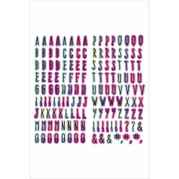 Altenew Our Family 6 X 12 Chipboard Alphabet Stickers