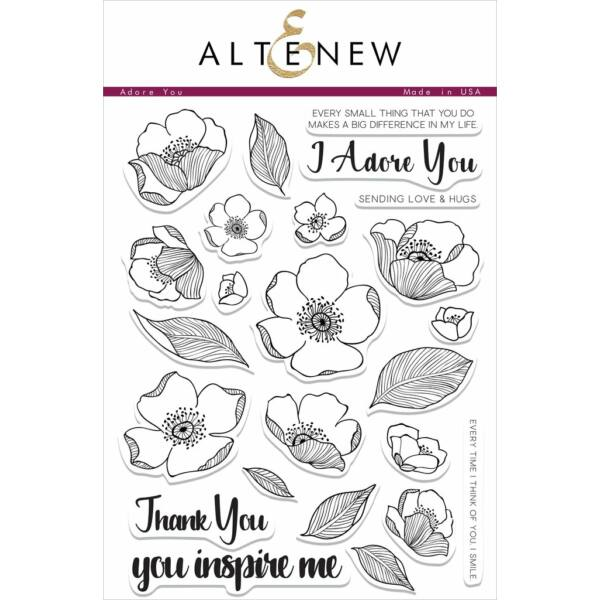 Altenew Adore You Stamp Set