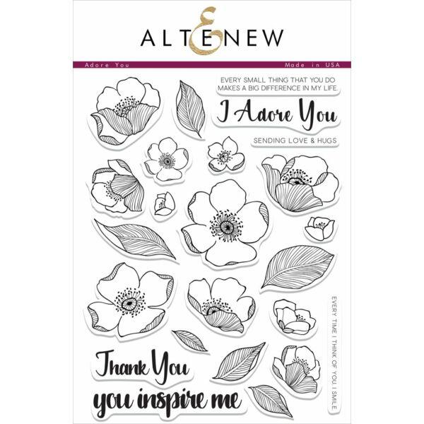 Altenew Adore You Stamp Set