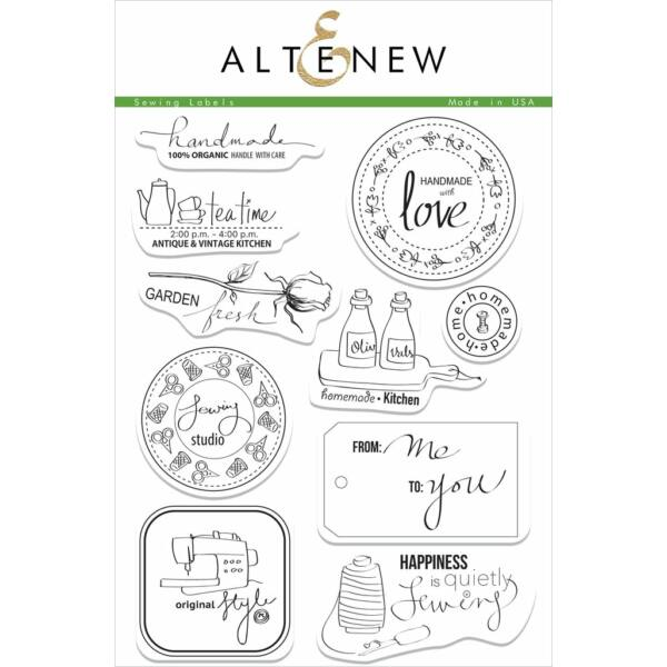 Altenew Sewing Labels Stamp Set