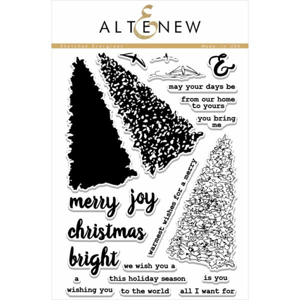 Altenew Sketched Evergreen Stamp Set