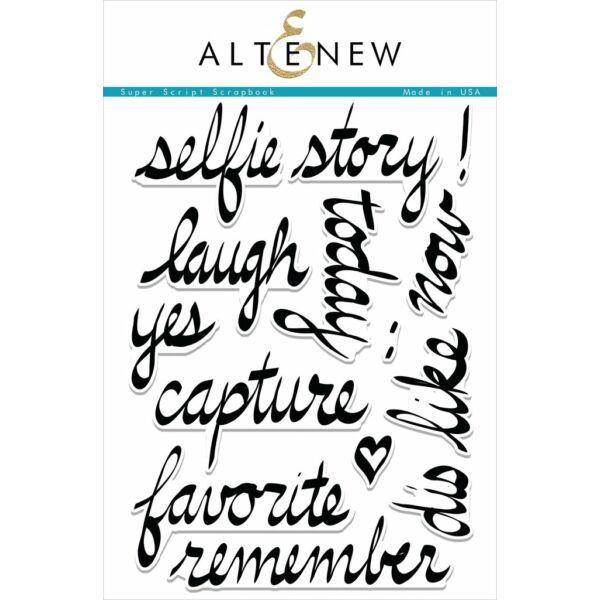 Altenew Super Script Scrapbook Stamp Set