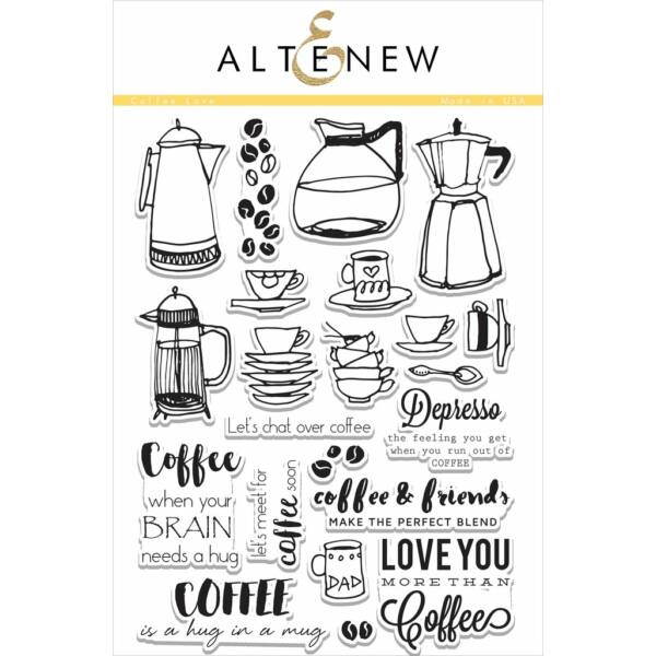 Altenew Coffee Love Stamp Set
