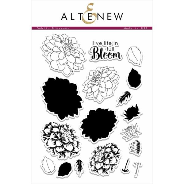 Altenew Dahlia Blossoms Stamp Set