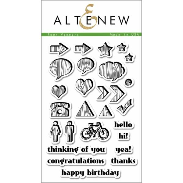 Altenew Faux Veneer Stamp Set