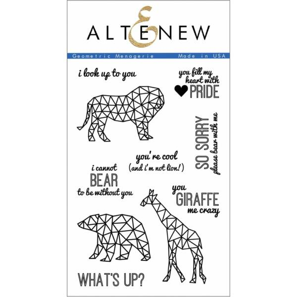 Altenew Geometric Menagerie Stamp Set