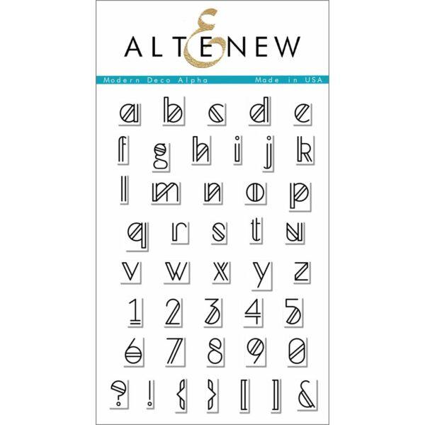 Altenew Modern Deco Alpha Stamp Set
