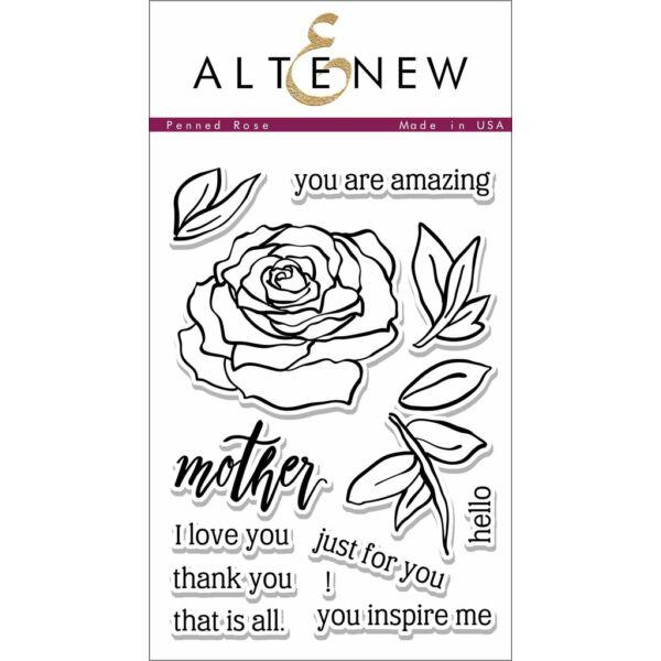 Altenew Penned Rose Stamp Set