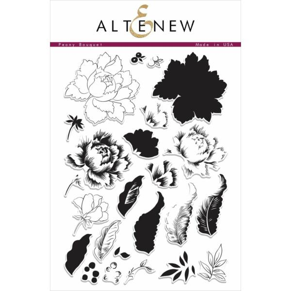 Altenew Peony Bouquet Stamp Set
