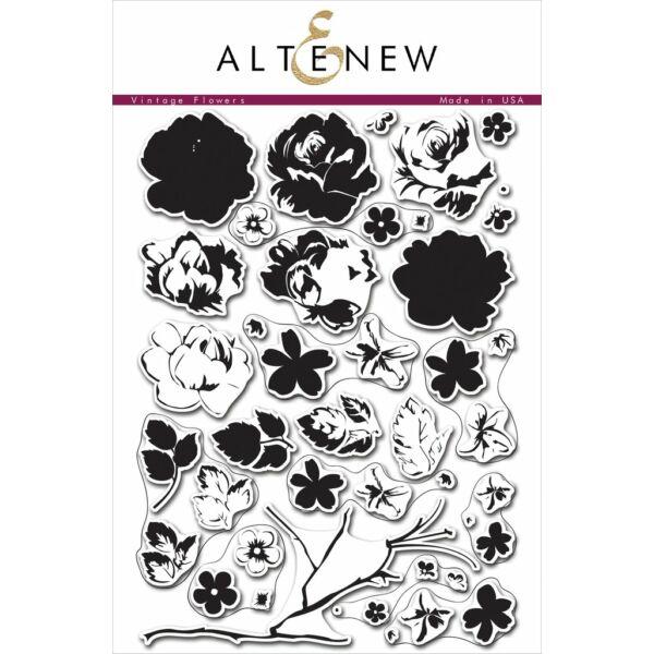 Altenew Vintage Flowers Stamp Set