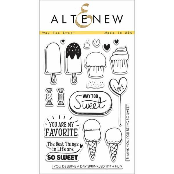 Altenew Way Too Sweet Stamp Set