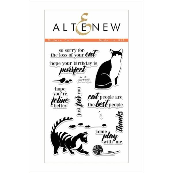 Altenew Modern Cats Stamp Set