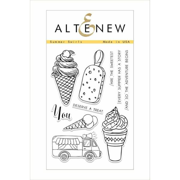 Altenew Summer Swirls Stamp Set
