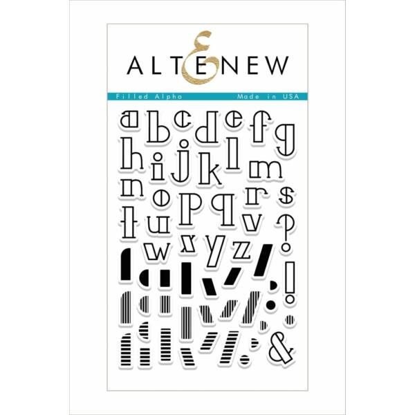 Altenew Filled Alpha Stamp Set