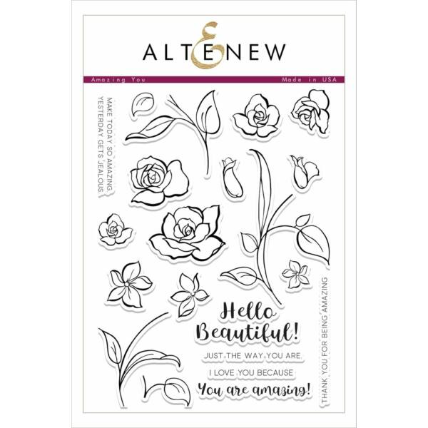 Altenew Amazing You Stamp Set