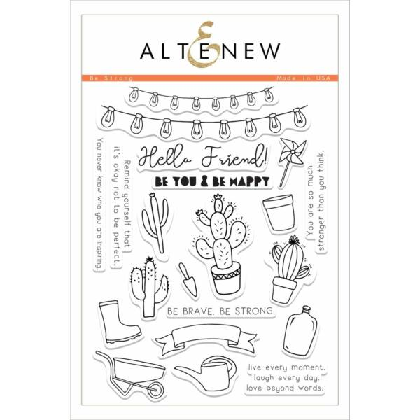 Altenew Be Strong Stamp Set