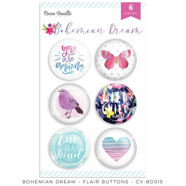 Cocoa Vanilla Studio - Bohemian Dream Flair Buttons
