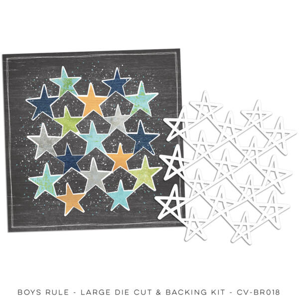 Cocoa Vanilla Studio - Boys Rule 12x12 Backing Kit