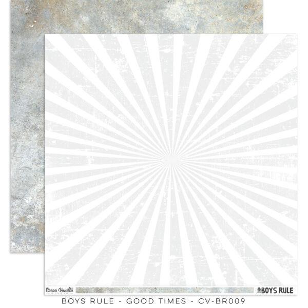 Cocoa Vanilla Studio - Boys Rule 12x12 Paper - Good Times