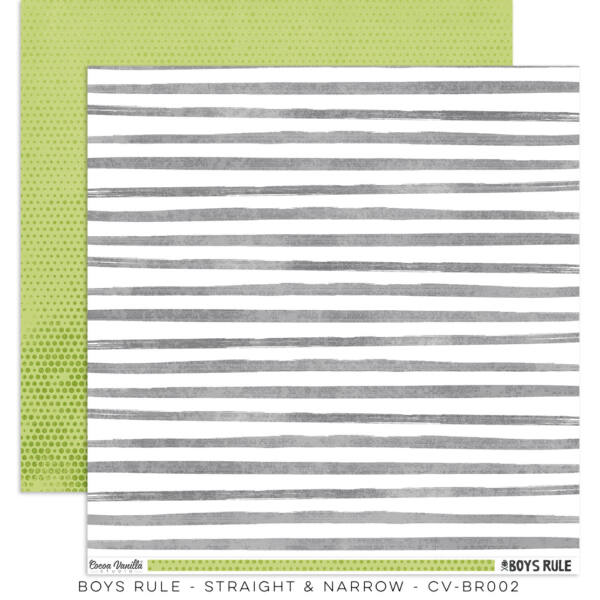 Cocoa Vanilla Studio - Boys Rule 12x12 Paper - Straight & Narrow