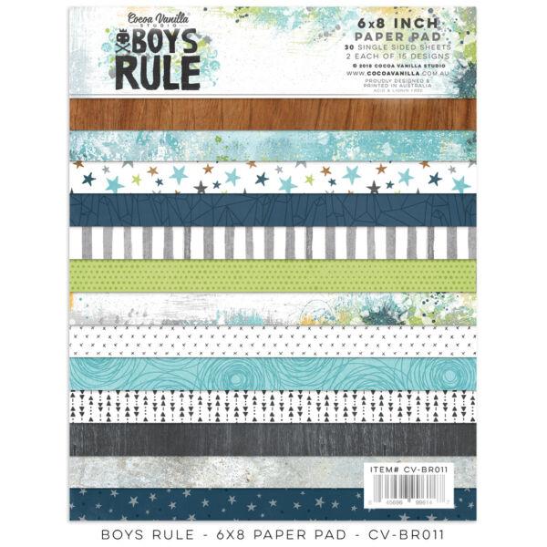 Cocoa Vanilla Studio - Boys Rule 6x8 Paper Pad