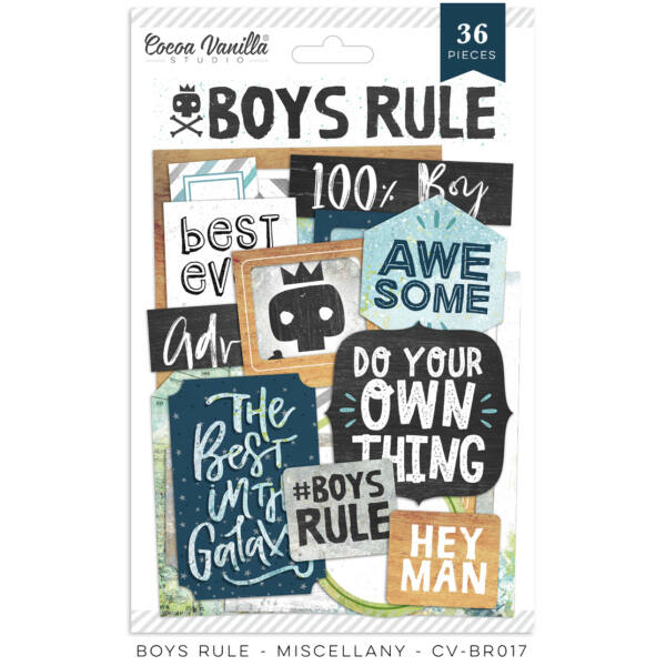 Cocoa Vanilla Studio - Boys Rule Miscellany Die Cuts