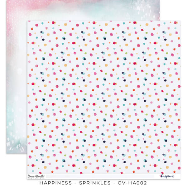 Cocoa Vanilla Studio - Happiness 12x12 Paper - Sprinkles
