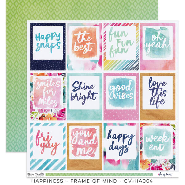 Cocoa Vanilla Studio - Happiness 12x12 Paper - Frame Of Mind