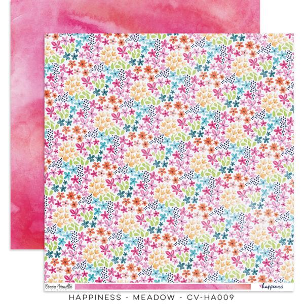 Cocoa Vanilla Studio - Happiness 12x12 Paper - Meadow