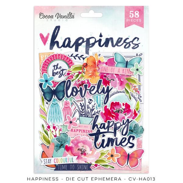 Cocoa Vanilla Studio - Happiness Die Cut Ephemera