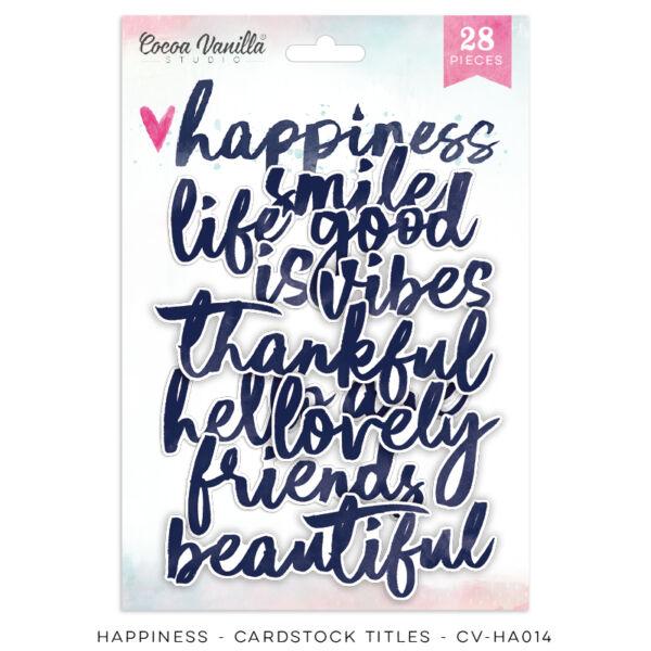 Cocoa Vanilla Studio - Happiness Die Cut Titles