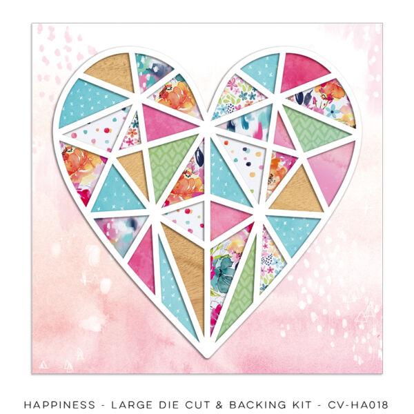 Cocoa Vanilla Studio - Happiness Large Die Cut & Backing Kit