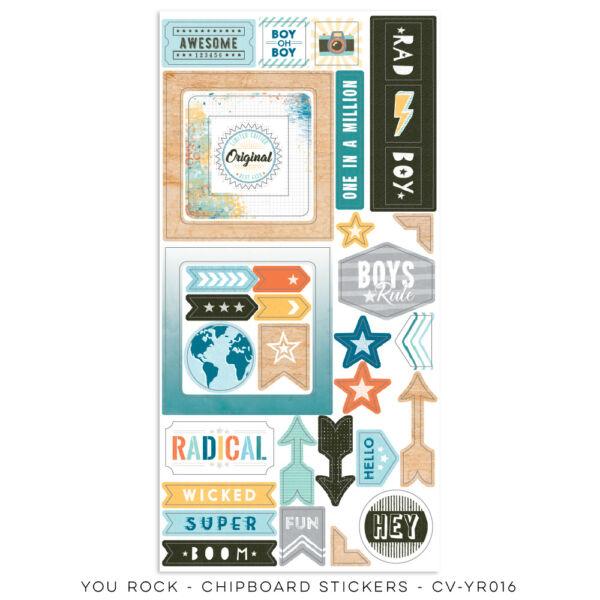 Cocoa Vanilla Studio - You Rock 6x12 Chipboard Stickers