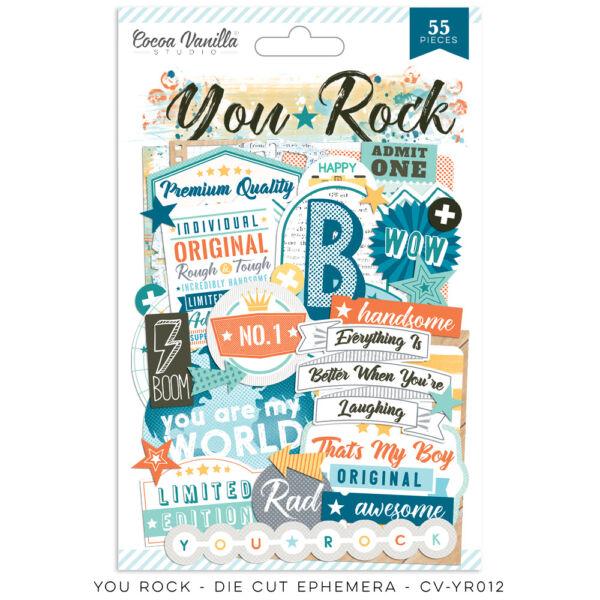 Cocoa Vanilla Studio - You Rock Die Cut Ephemera